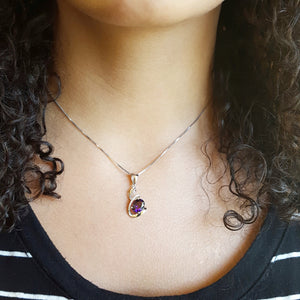 """Reyna"" 14K White Gold Arizona Amethyst Pendant"