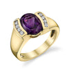 """Hannah"" 14k Yellow Gold Arizona Amethyst Ring"