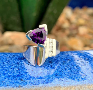 """Chloe"" Sterling Silver Arizona Four Peaks Amethyst™ Ring"