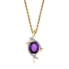 """Zarina"" 14k Gold Amethyst Necklace"