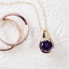 """Farrah""  14k Yellow Gold Arizona Amethyst Pendant"