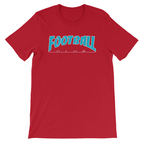 Football Soccer Club Outlined Red T-Shirt - Modern Soccer Club