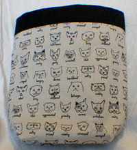 Vehicle Trash Bag - Cat Moods Black and White Bag