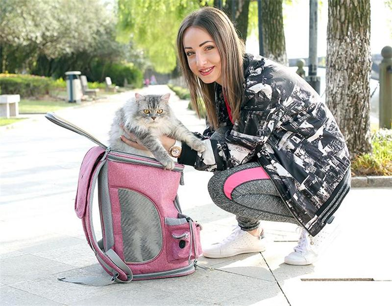 Medium Canvas Pet Backpack