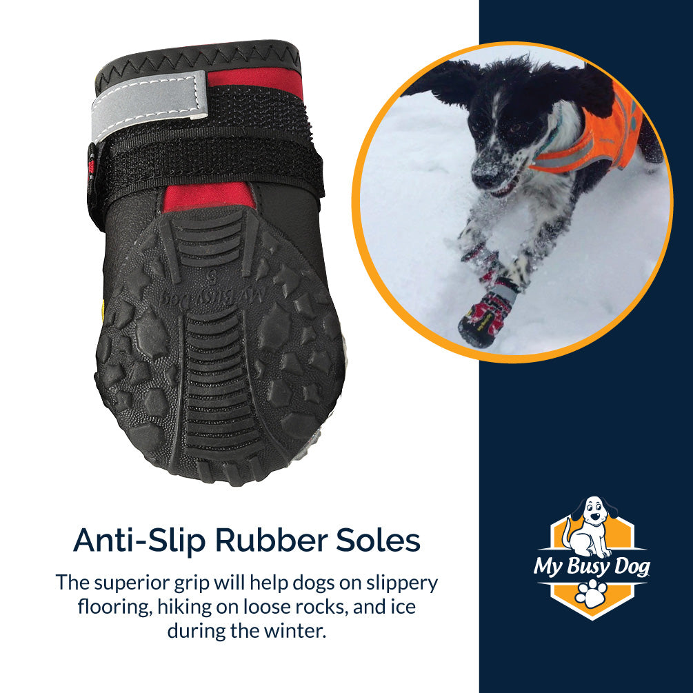 non slip dog boots for traction and protection