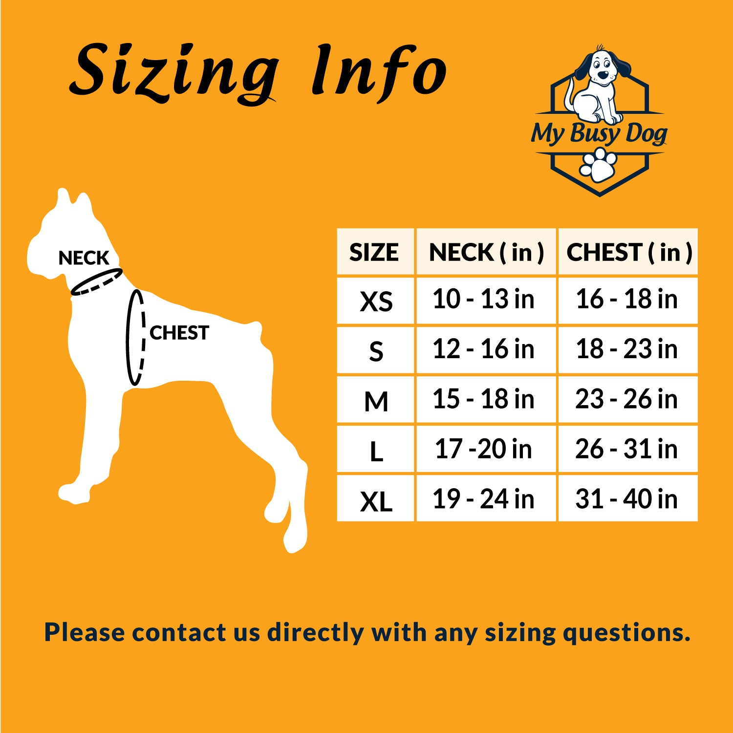 No Pull Dog Harness Sizing Guide