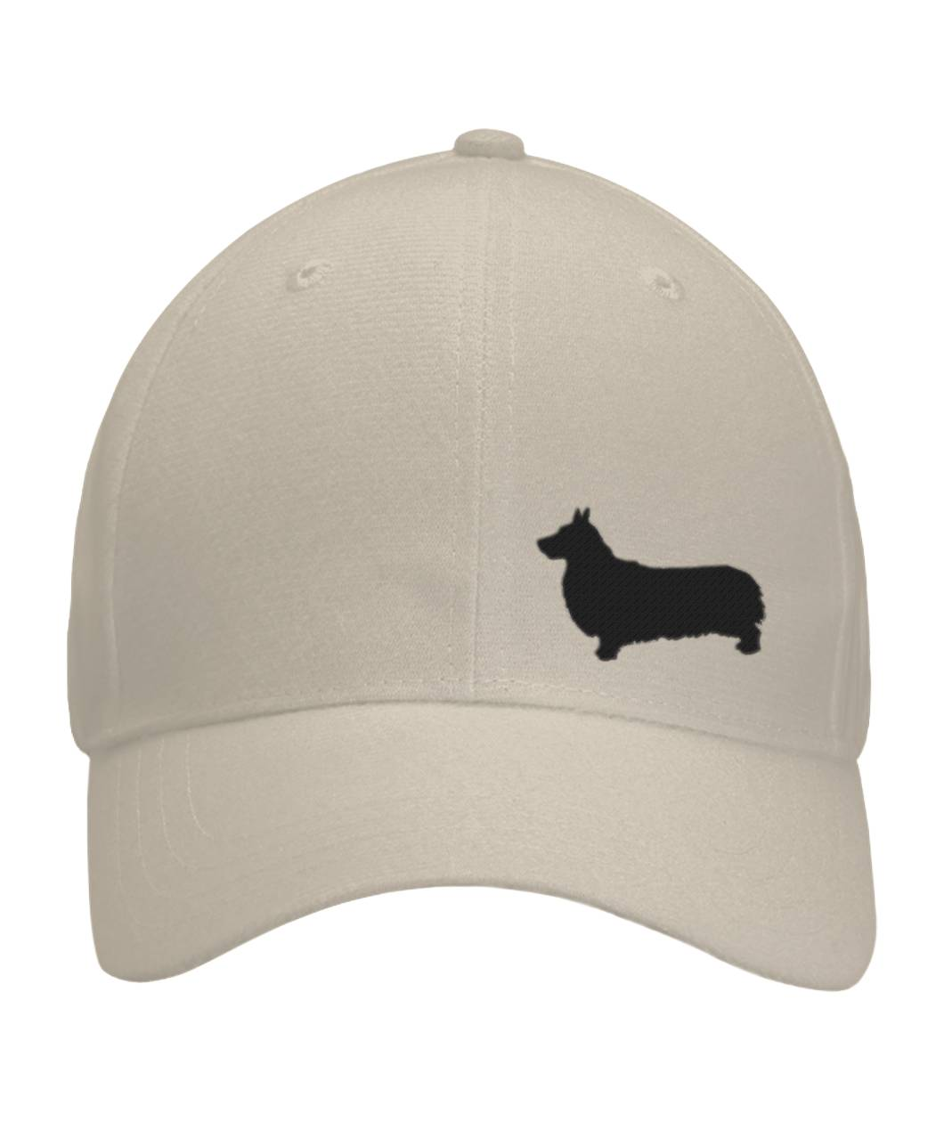 Corgi, Embroidered Fitted Cap