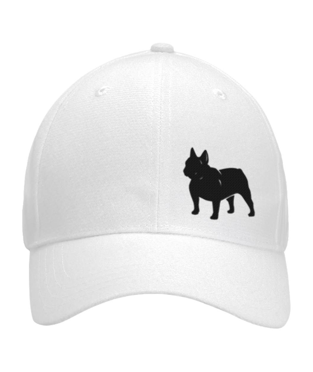French Bulldog, Embroidered Fitted Cap