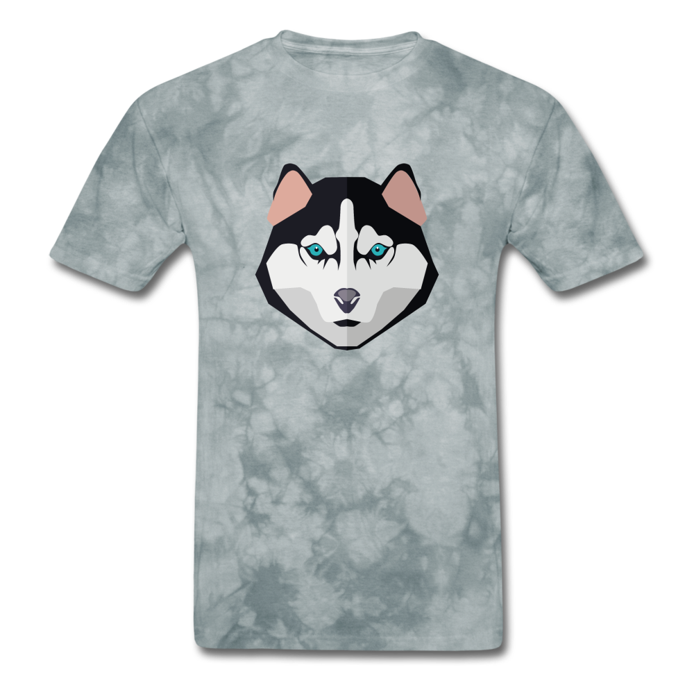 Husky Dad - Men's T-Shirt - grey tie dye