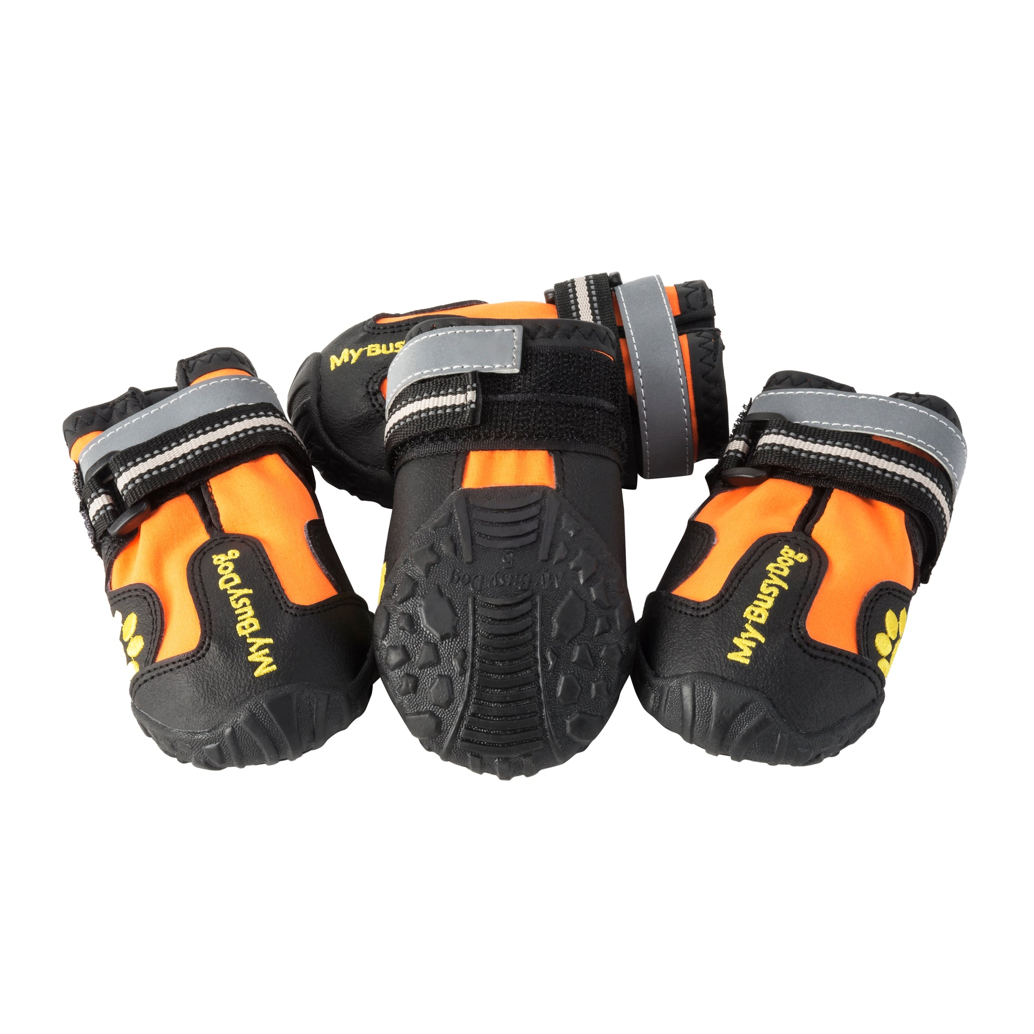 orange dog shoes for small dogs