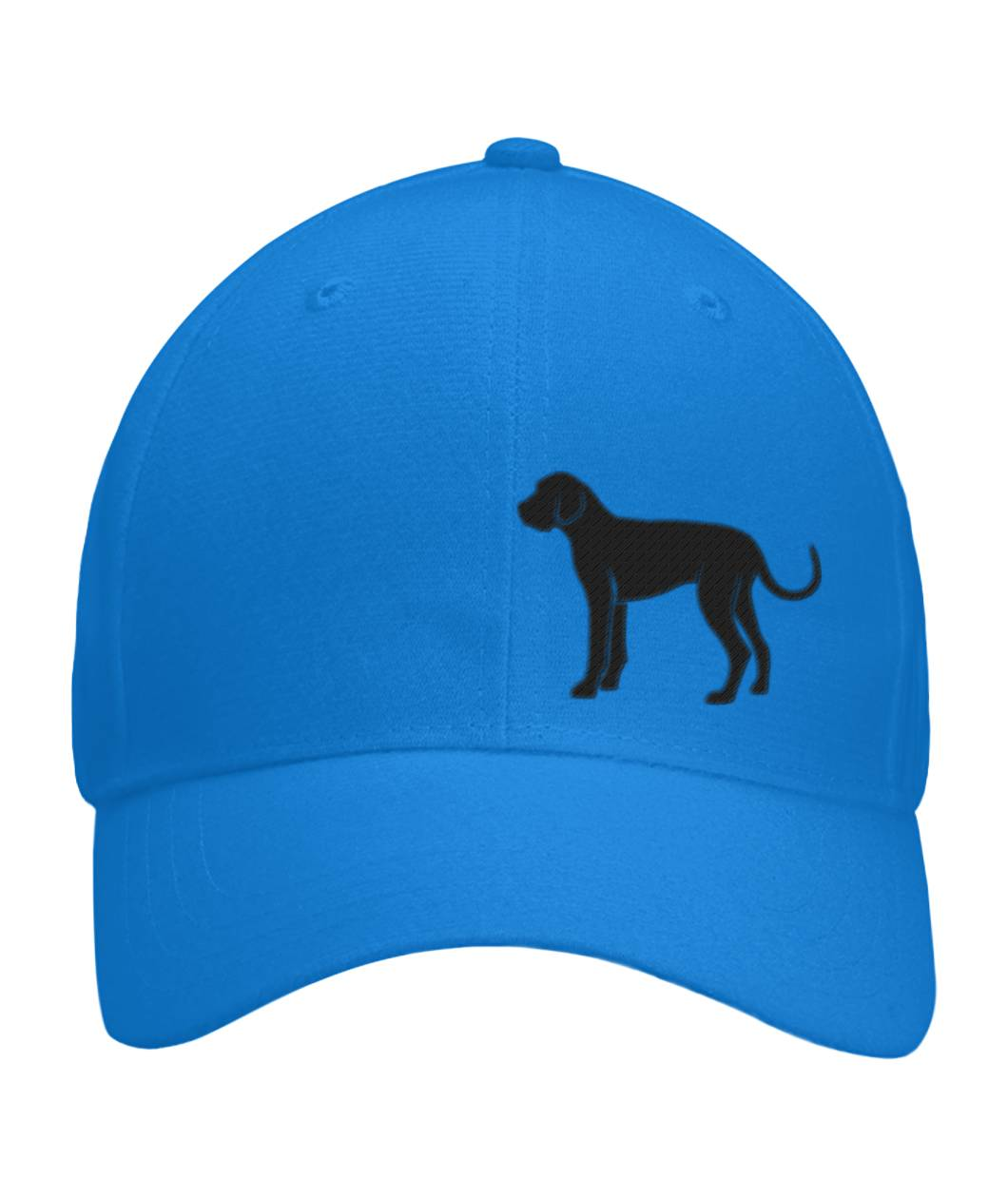 Great Dane, Embroidered Fitted Cap