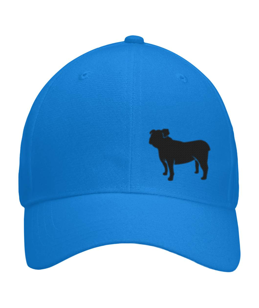 Bulldog, Embroidered Fitted Cap