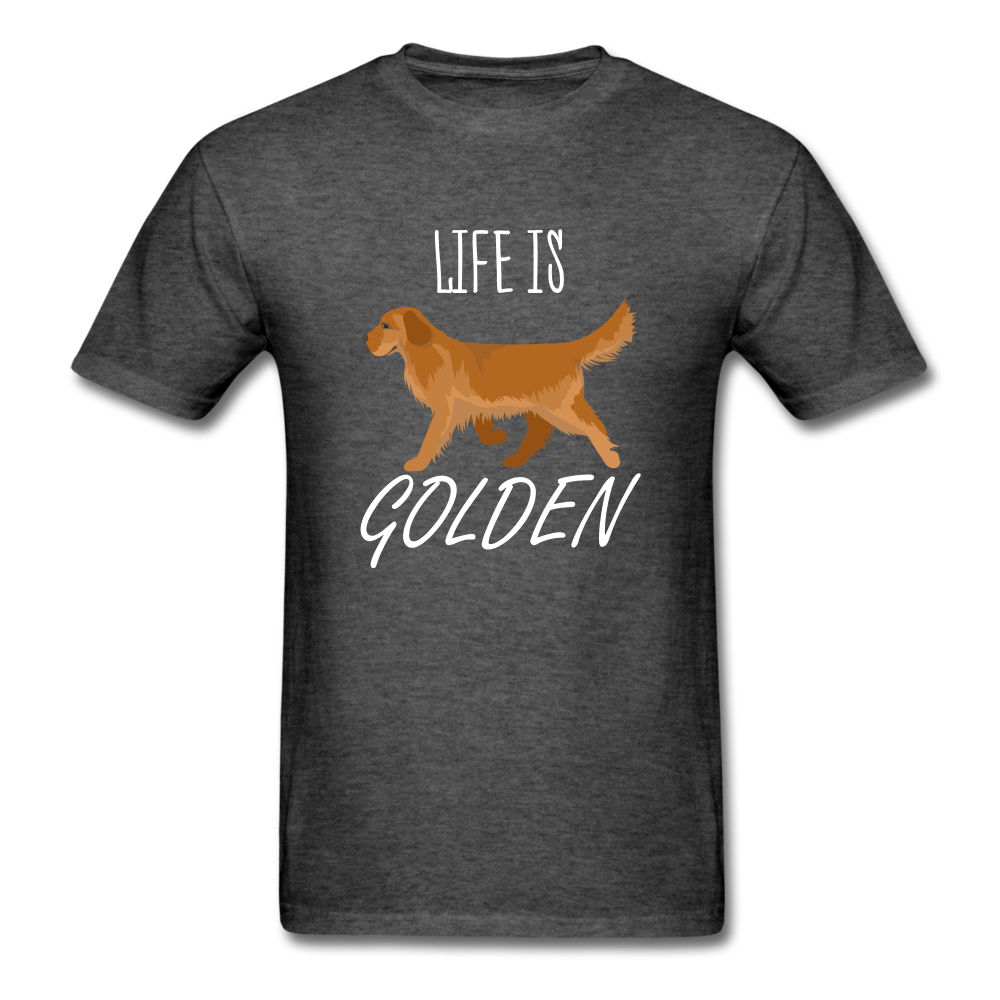 Life Is Golden T-Shirt - heather black
