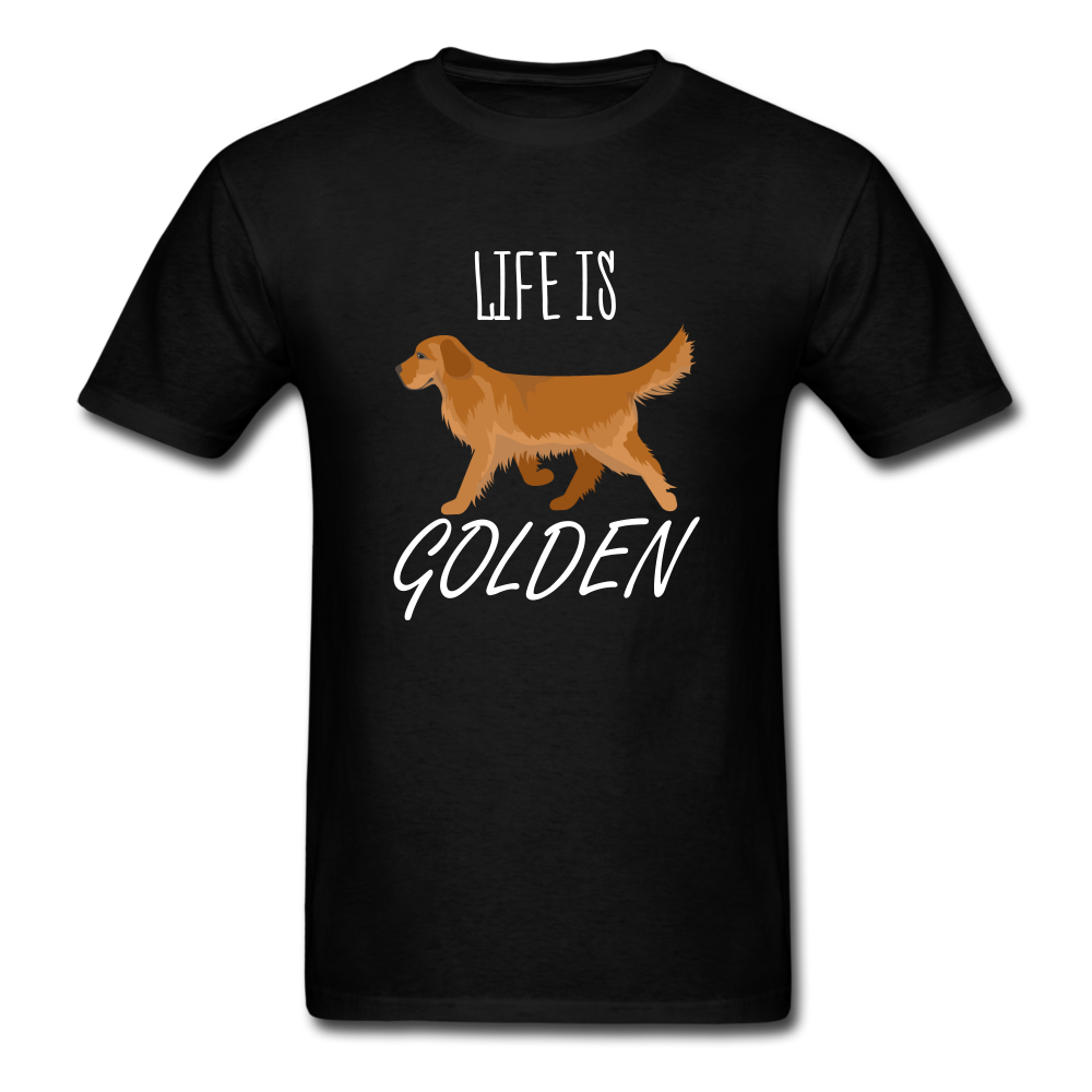 Life Is Golden T-Shirt - black