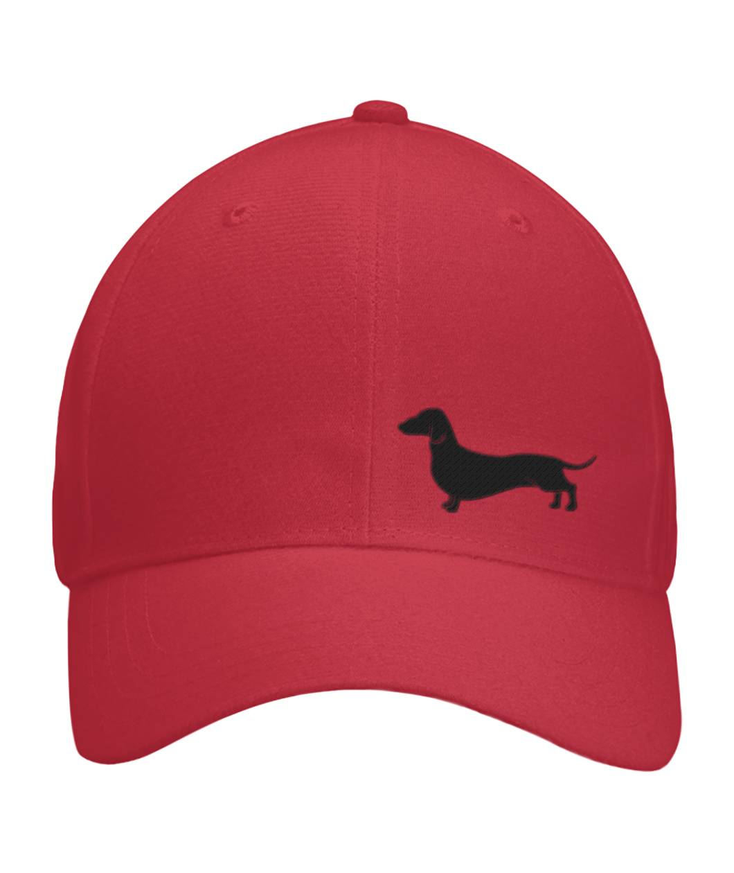 Daschund, Embroidered Fitted Cap