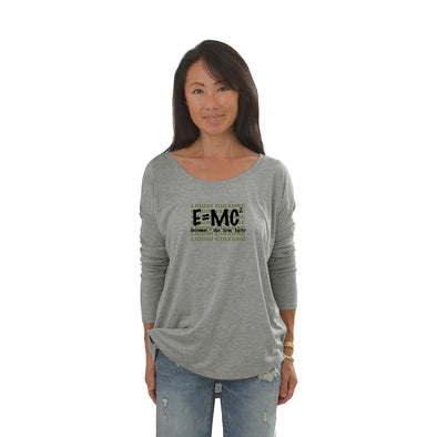Women's E=MC Long Sleeve Tee