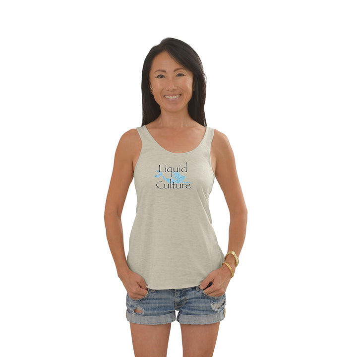 Women's Mermaid Tri-Blend Racerback Tank