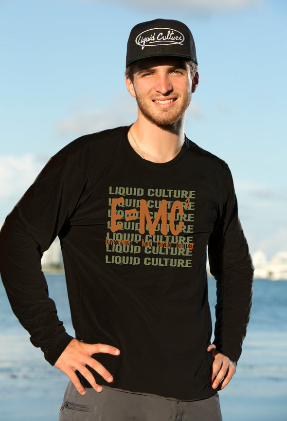 Men's E=MC Long Sleeve Fitted Crew