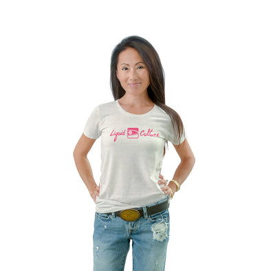 Women's Liquid Culture Logo Crew Neck T-shirt