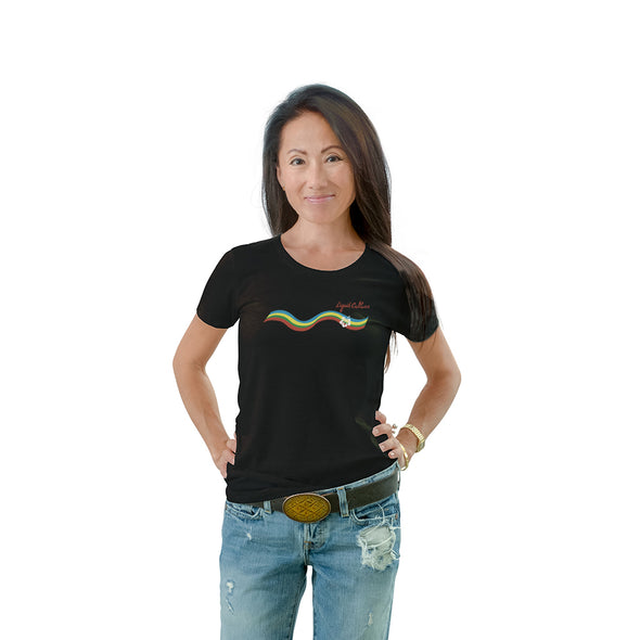 Women's Rainbow Crew Neck T-shirt