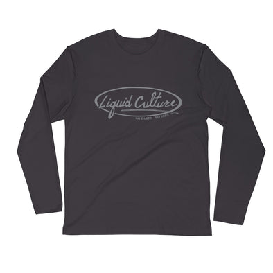 Men's Classic Logo Long Sleeve Fitted Crew
