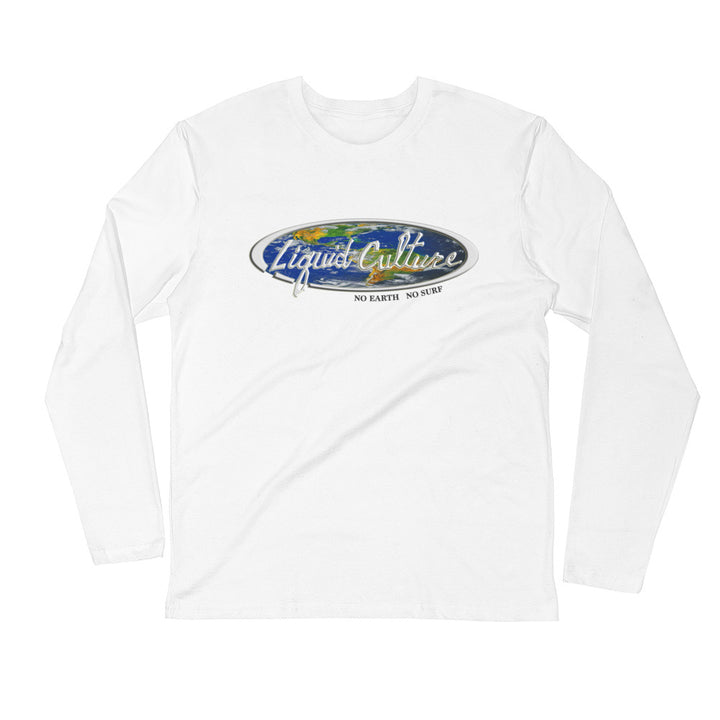 Men's World No Earth No Surf Long Sleeve Fitted Crew
