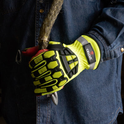 Yellow Men's Work Gloves