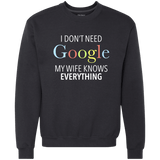 I Don't Need Google My Wife Knows Everything - memesmerch