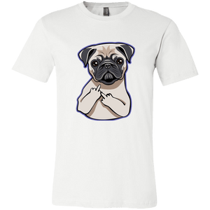 Pug Middle Finger - memesmerch