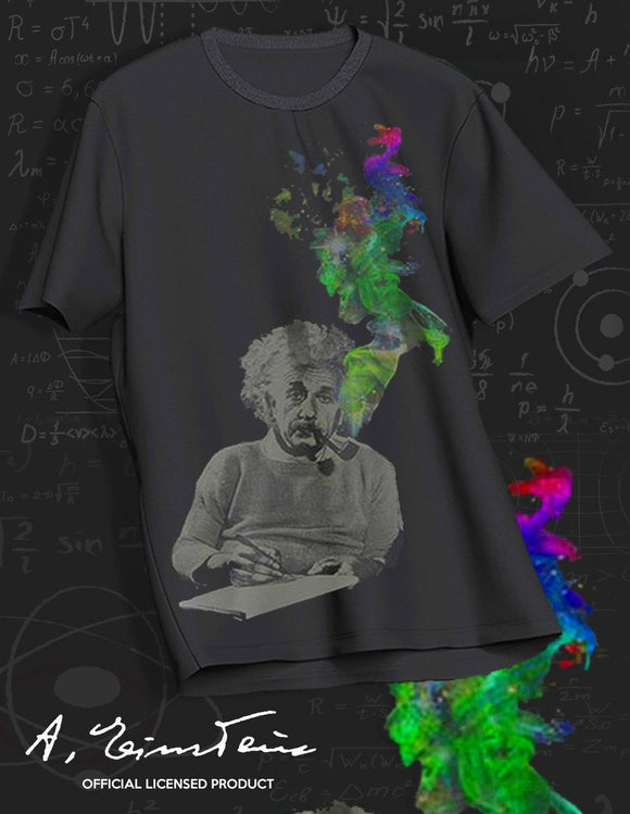 Einstein Smoking Black T-Shirt - memesmerch
