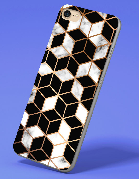 Abstract Geometric Box Pattern iPhone Case - memesmerch