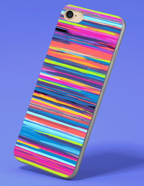 Abstract Neon Rainbow iPhone Case - memesmerch