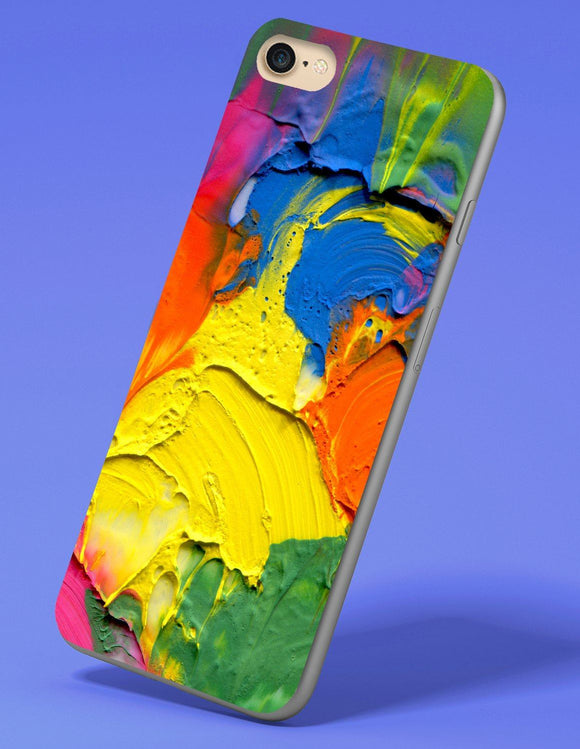 Acrylic Paint iPhone Case - memesmerch