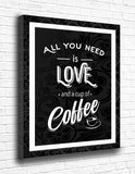All You Need Is Love And A Cup Of Coffee Canvas - memesmerch