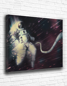 The Astronaut In Space Canvas - memesmerch