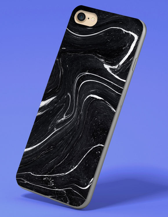 Black and White Marble iPhone Case - memesmerch