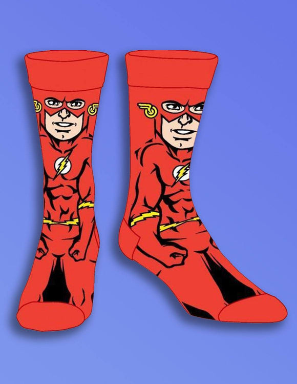 DC Comics Flash 360 Crew Socks - memesmerch