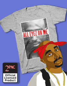 Tupac Shakur All Eyez - Mens Heather Grey T-Shirt - memesmerch