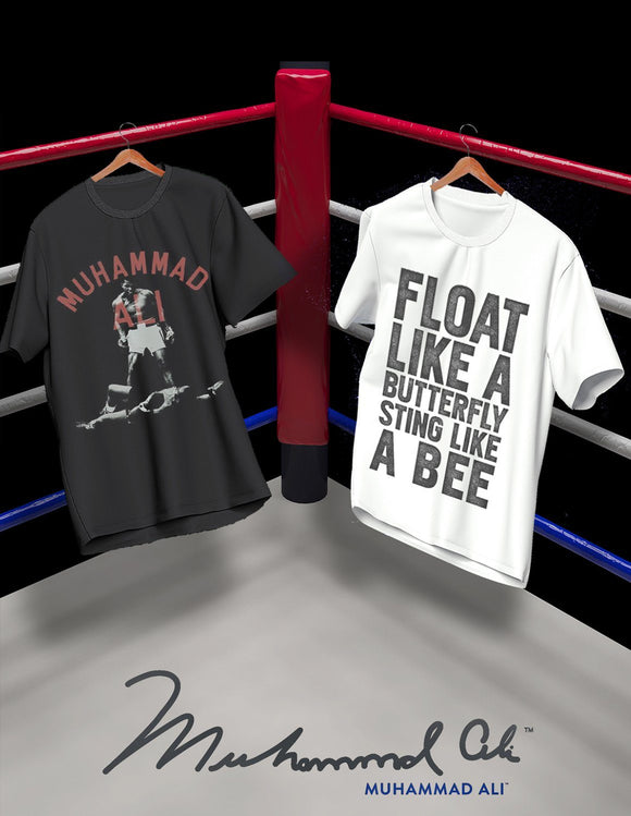 Muhammad Ali Foat Like A Butterfly Sting Like A Bee Men's Black T-Shirt Tee Shirt - memesmerch