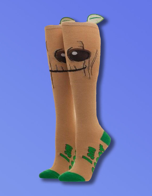 Guardians Of The Galaxy Groot Knee High Socks - memesmerch