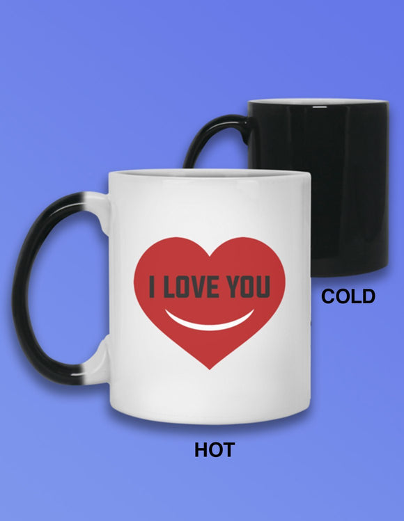 I Love You Morning Heat Mug - memesmerch