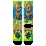 Guardians of the Galaxy Groot Sublimated Crew Socks - memesmerch