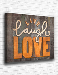 Live Laugh Love Canvas - memesmerch