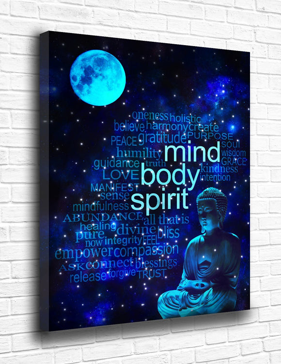 Mind Body Spirit Canvas - memesmerch