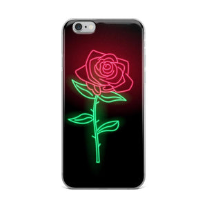 Neon Rose iPhone Case - memesmerch