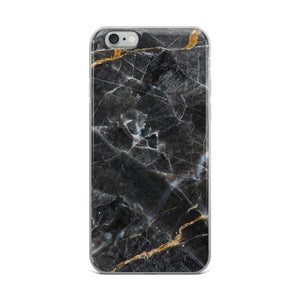 Black and Gold Marble iPhone Case - memesmerch