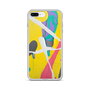 Abstract Paint iPhone Case - memesmerch