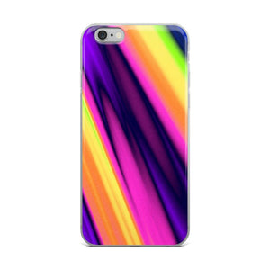 Neon Abstract iPhone Case - memesmerch