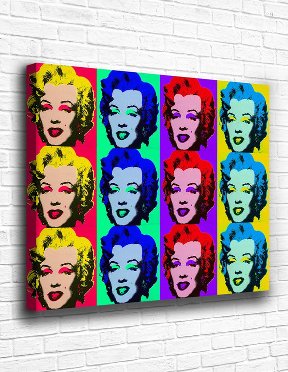 Marilyn Monroe Pop Culture Canvas - memesmerch