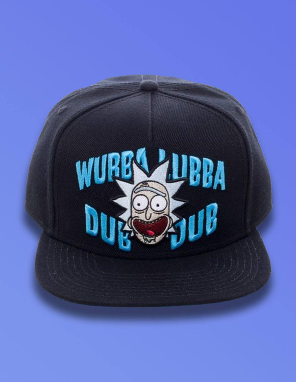 Rick and Morty Wubba Black Snapback - memesmerch